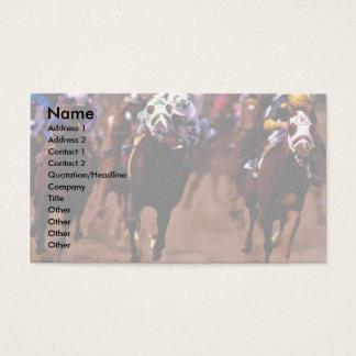 Cartão De Visitas Corrida de cavalos