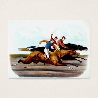 Cartão De Visitas Corrida de cavalos SUPERIOR do amor