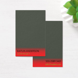 Cartão De Visitas Cosmetologist vermelho da névoa do marfim mínimo