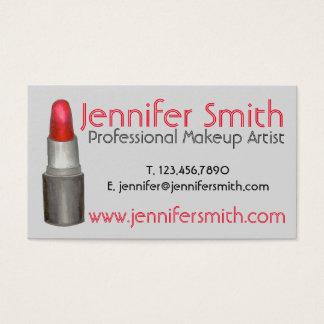 Cartão De Visitas Cosmetologist vermelho do maquilhador do prego do