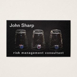 Cartão De Visitas Costume engraçado da gestão de riscos impossível