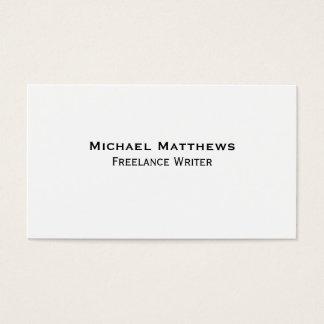 Cartão De Visitas Costume preto e branco Unadorned liso simples