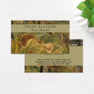 Cartão De Visitas Costume tropical do impressão da arte do tigre do
