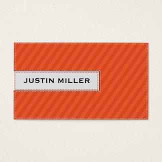 Cartão De Visitas Costura listrada - laranja