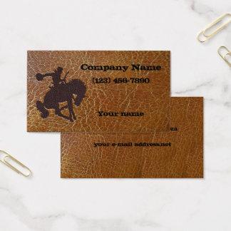 Cartão De Visitas Couro envelhecido vintage de Inlayed