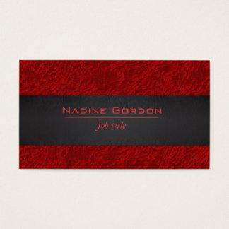 Cartão De Visitas Couro vermelho escuro e preto