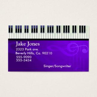 Cartão De Visitas Couture do piano do teclado