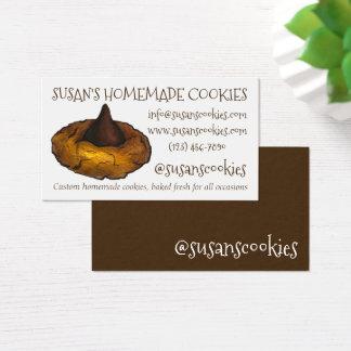 Cartão De Visitas Cozimento do biscoito da flor da manteiga de