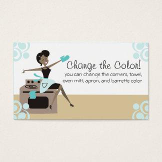 Cartão De Visitas Cozimento feito sob encomenda do cozinhar da