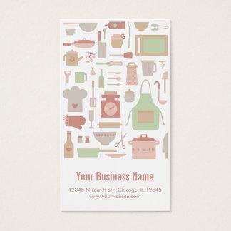Cartão De Visitas Cozinha retro do cozinheiro chefe do vintage que