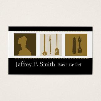 Cartão De Visitas Cozinheiro chefe culinário do cozinheiro da
