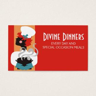 Cartão De Visitas Cozinheiro chefe da menina do Redhead que cozinha