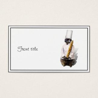 Cartão De Visitas Cozinheiro chefe de Meercat com Baguette
