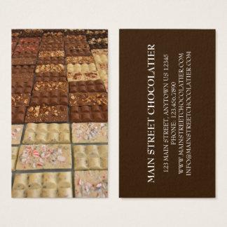 Cartão De Visitas Cozinheiro chefe de pastelaria da loja de