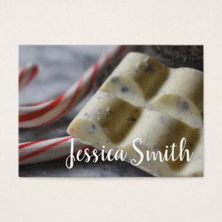 Cartão De Visitas Cozinheiro chefe de pastelaria doce do escritor da