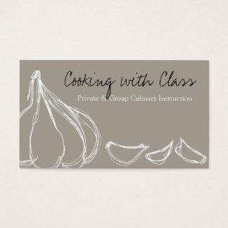 Cartão De Visitas Cozinheiro chefe dos cravos-da-índia de alho que