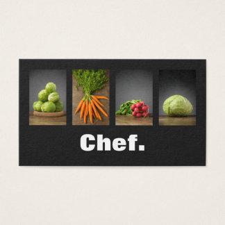 Cartão De Visitas Cozinheiro chefe elegante profissional moderno da