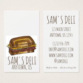 Cartão De Visitas Cozinheiro chefe judaico do restaurante da comida