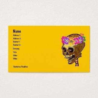 Cartão De Visitas Crânio de esqueleto colorido