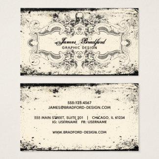 Cartão De Visitas Crânio do Victorian do vintage