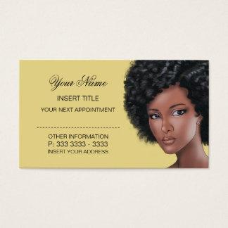 Cartão De Visitas Creme - nomeação da beleza