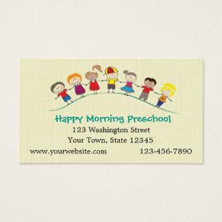 Cartão De Visitas Crianças felizes prées-escolar
