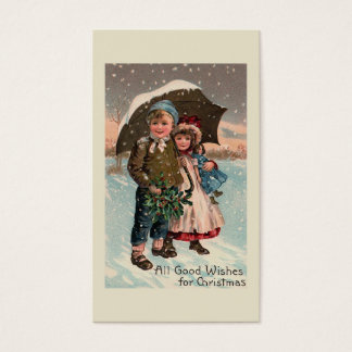"""Cartão De Visitas """"Crianças na neve """""""