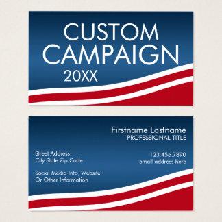 Cartão De Visitas Criar seu próprio design da eleição