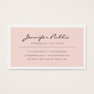 Cartão De Visitas Criar seu próprio elegante coram minimalista