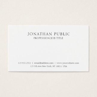 Cartão De Visitas Criar seu próprio elegante limpo clássico