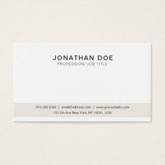 Cartão De Visitas Criar seu próprio elegante limpo moderno