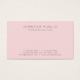 Cartão De Visitas Criar seu próprio Luxe liso bonito simples moderno