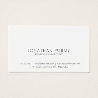Cartão De Visitas Criar seu próprio simples elegante moderno