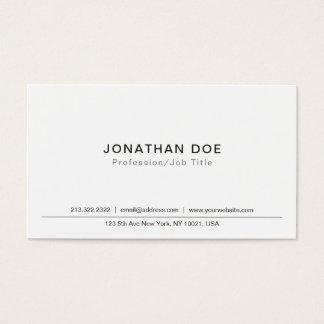 Cartão De Visitas Criar seu próprio Smart elegante clássico