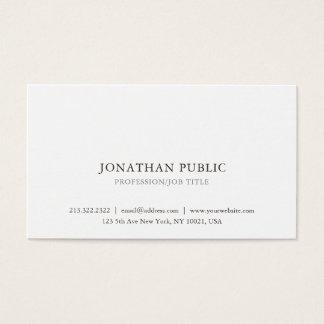 Cartão De Visitas Criar seu simples à moda clássico profissional
