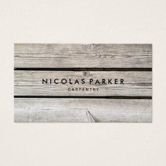 Cartão De Visitas Criar sua própria parede de madeira 2