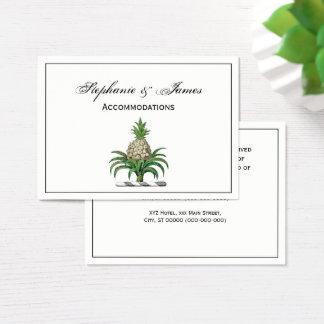 Cartão De Visitas Crista heráldica formal da brasão do abacaxi