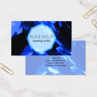 Cartão De Visitas Cristal azul