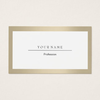 Cartão De Visitas Cristal profissional elegante do ouro do marfim do