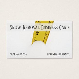 Cartão De Visitas Critério nevado profundo do tempo do blizzard da