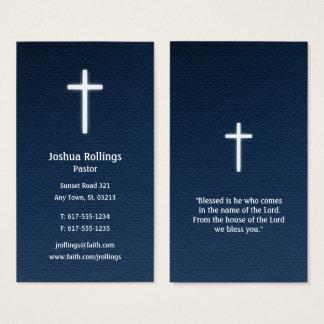 Cartão De Visitas Cruz cristã do pastor |