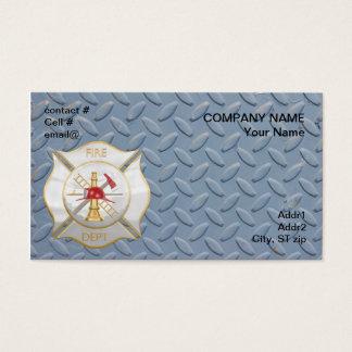 Cartão De Visitas Cruz de combate ao fogo maltesa da prata e do ouro