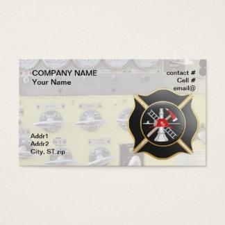 Cartão De Visitas Cruz de combate ao fogo maltesa preta