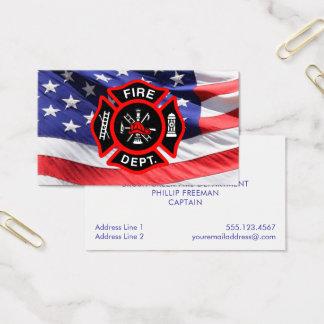 Cartão De Visitas Cruz maltesa de bandeira americana do