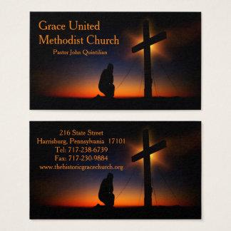 Cartão De Visitas Cruz santamente no por do sol (personalize)