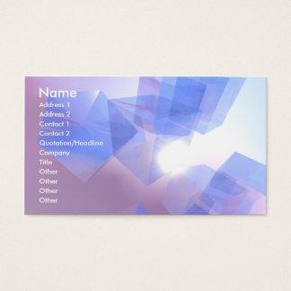 Cartão De Visitas Cubos legal - negócio
