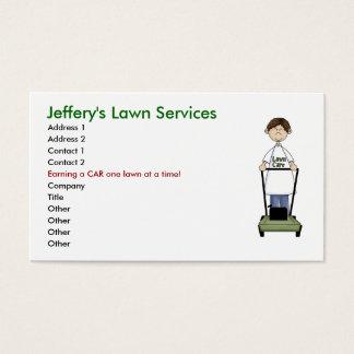 Cartão De Visitas Cuidado do gramado