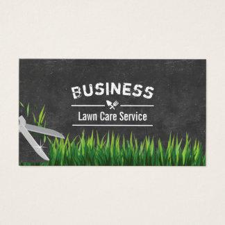 Cartão De Visitas Cuidado do gramado & ajardinar o quadro do serviço