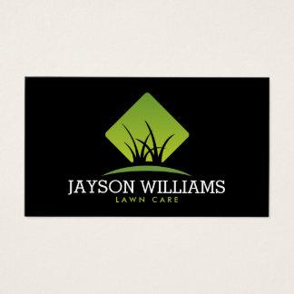 Cartão De Visitas Cuidado moderno do gramado/ajardinar o logotipo II