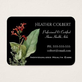 Cartão De Visitas Cuidador que confia o profissional floral